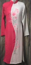 Theit Chinese Dress Slit Up Sides Size Small