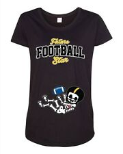 Future Football Star Pittsburgh Baby Skeleton Maternity DT T-Shirt Tee