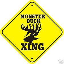Monster Buck Xing Sign