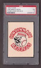1962 Fleer Team Logo Decals CINCINNATI REDS PSA 5 Very Very RARE Read Below!