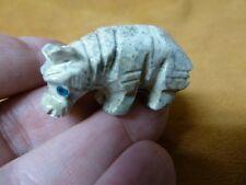 (Y-Hip-7) Hippo Hippopotamus Gray gem Gemstone carving Soapstone River Horse