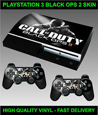 Play station 3 Console Sticker Skin COD BO2 Style skin & 2 X Controller Skins
