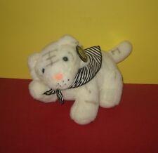 "Kashmir Siegfried & Roy Mirage Hotel White Tiger 10"" Plush Animal w/ Ear Tag"
