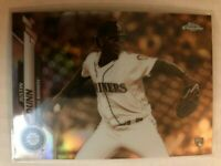 2020 Topps Chrome Sepia Refractor Justin Dunn Rookie RC #136 Seattle Mariners SP