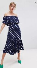 Asos Influence Midi Dress Polka Dot 12