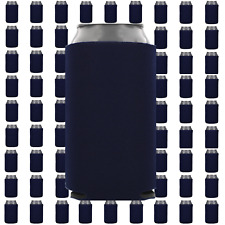 Navy Blue Beverage Insulators Can Coolers Lot of 100 Blank Drink Sleeves