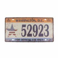 Washington,D.C.United States,Retro Vintage Auto License Plate Tin Sign