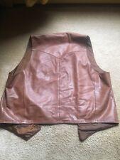 SCULLY Cognac Lamb/Leather Western Vest Men's Size 46