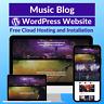 Music Blog Business Affiliate Website Store Free Hosting+Installation
