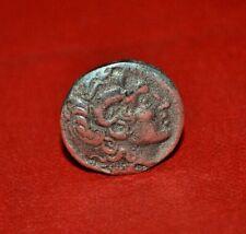 ANCIENT GREEK AR BRONZE TETRADRACHM COIN OF ALEXANDER THE GREAT 16G