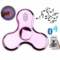 Plated LED Bluetooth Hand Spinner EDC Focus Gyro Toy ADD ADHD Stress Reduce Gift