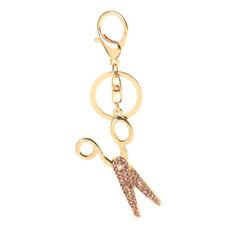 Chain Key Ring Handbag Pendant^ Fashion Rhinestone Scissors Shape Metal Key