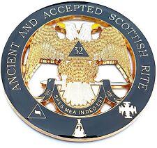 Masonry 32nd Degree Cut Out Car Emblem Scottish Rite Auto Rear Emblem Masonic