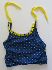 NWT GYMBOREE Girls Size 7 Swim Suit Top Bikini Tankini Top Blue Yellow Dots