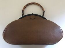 GUCCI Bamboo Tan Top-handle FRAME Bag TOM FORD ERA . Used, RARE, Limited Edition