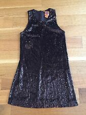 TORY BURCH Brown Metallic Sequin Shimmer Cocktail Party Dress Sz S