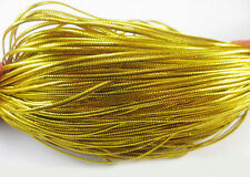 100M Gold Silver Card Craft Cord String tag thread Christmas Decoration Gift