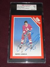 1983 Canadian MARIO LEMIEUX National Juniors Hockey SGC 84 NM AUTO 8 PRE-RC L@@K