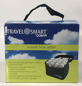 Conair Instant Heat Compact Setter Hot Rollers Ion Shine Travel Size New
