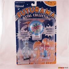 Futurama Bender Fry and clicker diecast metal collectible figure set dented pack