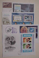 GRENADA FDC  SHEETLETS 4 DIFF. 1972-1995 CACHET UNADDRESSED