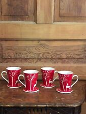 Bon-Ton Living Quarters Christmas Reindeer Mug Set of 4 With Box