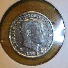 1814 M Italy Silver 5 Soldi, Napoleon Bonaparte