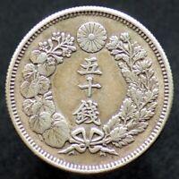 50 SEN 1908 JAPON / JAPAN (argent / silver) Meiji (41)