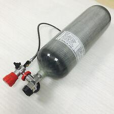 9L High pressure Carbon fiber air tank&gauge valve&filling station for sale