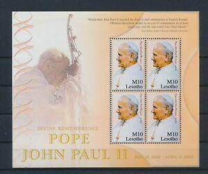 LO40468 Lesotho pope John Paul II fp good sheet MNH