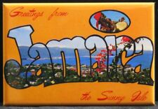 "Greetings From Jamaica Vintage Postcard 2"" X 3"" Fridge Magnet. Unique Gift Idea!"