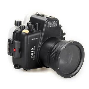 Meikon 60m/195ft Waterproof Underwater Camera Housing Diving Case for Nikon D810