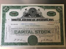 North American Aviation Stock Certificate (1965)