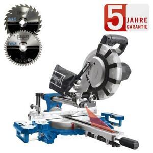 Scheppach Kapp und Gehrungssäge HM216SPX 2000W Zugsäge Laser + 2.Sägeblatt