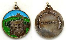 Medaglia Con Vernice Soggiorno Militare Montano Valturnenche Metallo Argentato