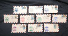 1983 American Airlines Inaugural Flight Cachet Covers, Lot of 10