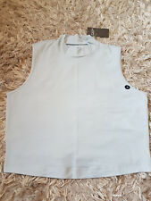 New Women's Abercrombie & Fitch Mock Neck Tank Size M light blue RRP £30