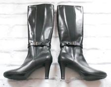 LAST CHANCE!! Aquatalia £650 Radar Black Leather Knee High Boots NWB IT41/UK8
