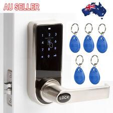 Digital Keyless Electronic Code Door Lock 5x RFID Card Tags Entry Keypad Handle