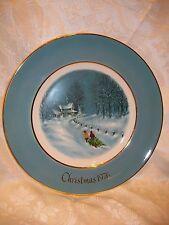 AVON CHRISTMAS PLATE 1976 BRINGING HOME THE TREE