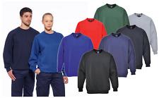 Portwest Roma Sweater Sweatshirt Plain Jumper Uniform Crew Neck Work Casual B300