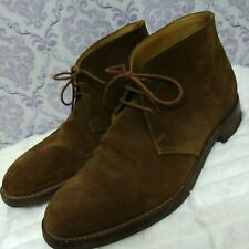 Crockett Jones Chiltern Chukka Boots UK Size 7.5 E US Size 8 Leather Tan Brown