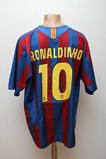 BARCELONA SPAIN 2005/2006 HOME FOOTBALL SHIRT JERSEY CAMISETA NIKE RONALDINHO 10