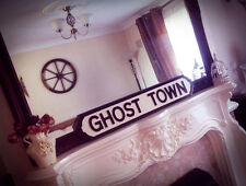 The Specials Inspired Ghost Town Wood Music Street Sign Two Tone