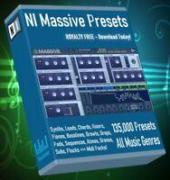 NI Massive 135,000 Synth Presets - LOGIC ABLETON FL STUDIO CUBASE REASON SONAR
