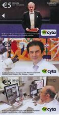 Cyprus set of 3 collectors phonecards Cypriot scientists %500ex 06/14 sample