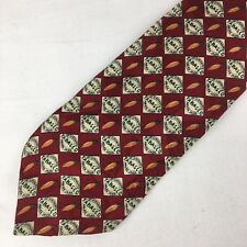 Authentic Tabasco Hot Pepper Sauce Logo Red Men's Novelty Tie 100% Silk Necktie
