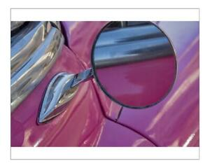 """20574852 10""""x8"""" (25x20cm) Print Close-up side mirror on hot pink..."""
