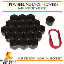 TPI Injected Black Wheel Bolt Nut Covers 19mm for Fiat Coupe 20v 97-01