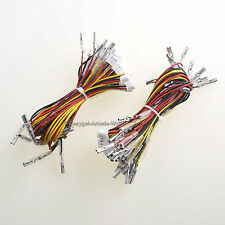 New Easyget 20 Pcs/Lot 20cm 3Pin LED Push Button Wires for Arcade Game DIY MAME